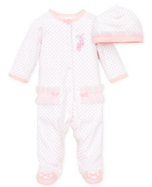 Little Me Baby Girls Coverall with Matching Hat