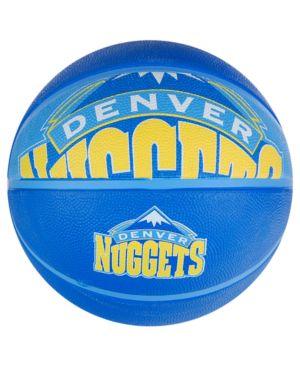 Spalding Denver Nuggets Size 7 Courtside Basketball thumbnail