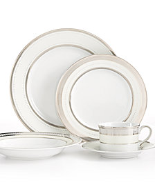 Lauren Ralph Lauren Dinnerware, Silk Ribbon Pearl Collection