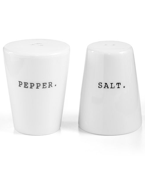Whiteware Words Salt and Pepper Shakers, Created for Macy's
