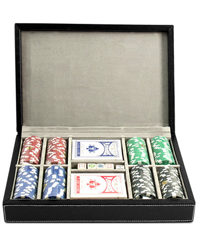 Bey-Berk All-Inclusive Leather Poker Set