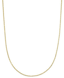 "Italian Gold 16"" Flat Rolo Chain Necklace in 14k Gold"