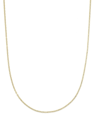 """16"""" Flat Rolo Chain Necklace (1-3/8mm) in 14k Gold"""