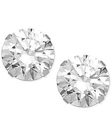 Swarovski Zirconia Round Stud Earrings in 14k White Gold (5-5/8 ct. t.w.)