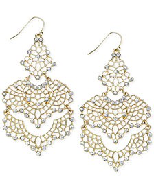 I.N.C. Crystal Lace Chandelier Earrings