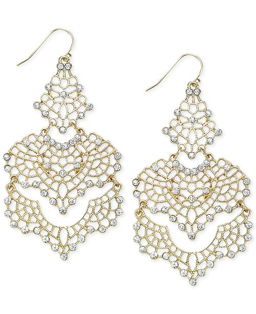 INC International Concepts INC Crystal Lace Chandelier Earrings