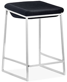 Zuo Lance Counter Stools (Set Of 2), Quick Ship