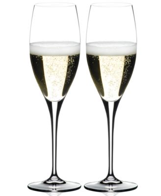 Set of 2 Heart to Heart Champagne Flutes
