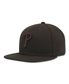 New Era Kids' Philadelphia Phillies MLB Black on Black Fashion 59FIFTY Cap