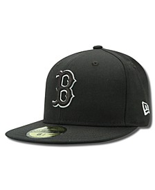 Kids' Boston Red Sox MLB Black and White Fashion 59FIFTY Cap