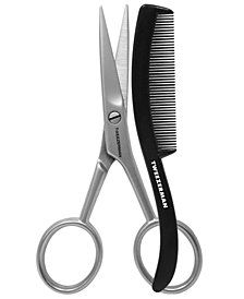 Tweezerman GEAR Men's Moustache Scissors with Comb