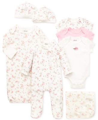 Baby Girls Coverall with Matching Hat