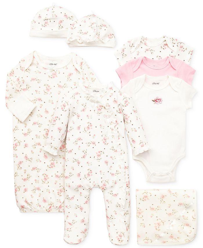 Little Me - Baby Girls' Vintage Rose Gift Bundle