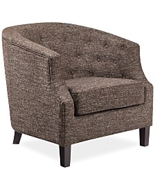 Penelope Fabric Accent Chair, Quick Ship