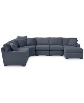 Furniture Radley 6 Piece Fabric Chaise Sectional Sofa   Custom Colors,  Created For Macyu0027s   Furniture   Macyu0027s