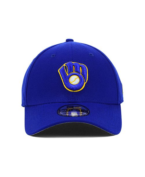 best service 29c78 aeb59 ... uk new era milwaukee brewers mlb team classic 39thirty stretch fitted  cap sports fan shop by