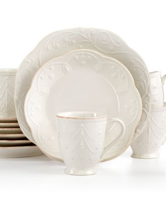 Lenox French Perle 12-Pc. Set Service for 4  sc 1 st  Macy\u0027s & Lenox French Perle 12-Pc. Set Service for 4 - Dinnerware - Dining ...