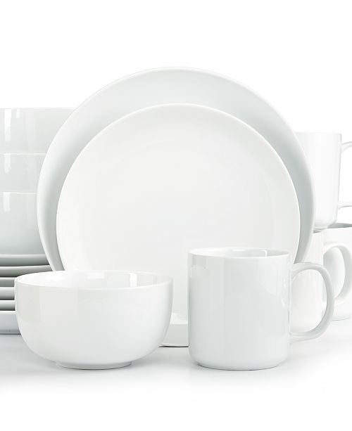The Cellar CLOSEOUT! Whiteware Coupe 16-Pc. Set, Created for Macy's, Service for 4