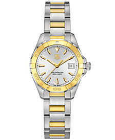 TAG Heuer Women's Swiss Aquaracer 18k Gold-Capped Stainless Steel Bracelet Watch 27mm WAY1455.BD0922