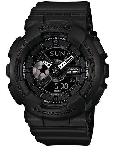 Baby-G Women's Analog-Digital Black Resin Strap Watch 46x43mm BA110BC-1A