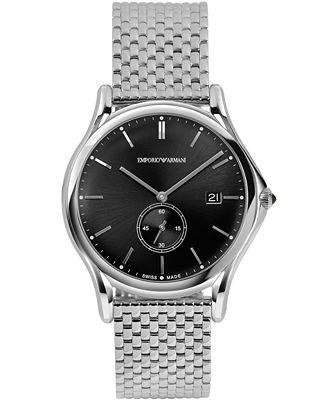 Emporio Armani Men's Swiss Stainless Steel Bracelet Watch 40mm ARS1005