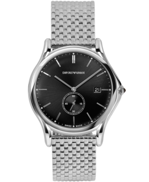 Emporio Armani Men's Swiss Stainless Steel Bracelet Watch 40mm ARS1005