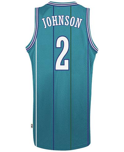 adidas Men's Larry Johnson Charlotte Hornets Retired Player Swingman Jersey