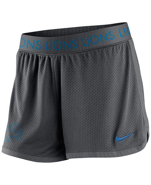 dbd4e748 Nike Women's Detroit Lions Ultimate Mesh Shorts & Reviews - Sports ...