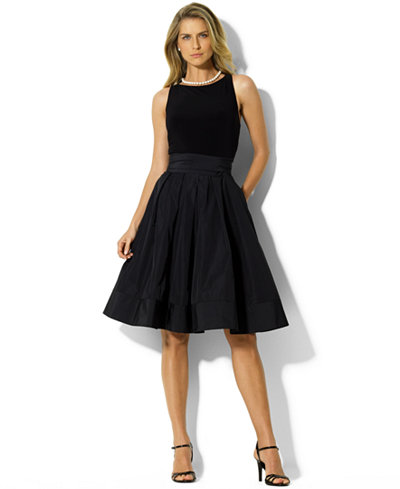 Lauren Ralph Lauren Pleated Cocktail Dress - Dresses - Women - Macy's