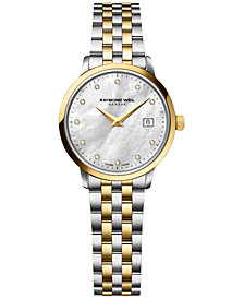 RAYMOND WEIL Women's Swiss Toccata Diamond Accent Two-Tone Stainless Steel Bracelet Watch 29mm 5988-STP-97081