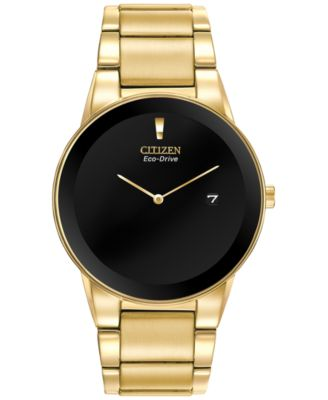 Image of Citizen Men's Axiom Eco-Drive Gold-Tone Stainless Steel Bracelet Watch 40mm AU1062-56E