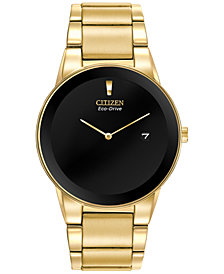 Citizen Men's Axiom Eco-Drive Gold-Tone Stainless Steel Bracelet Watch 40mm AU1062-56E