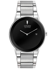 Citizen Men's Axiom Eco-Drive Stainless Steel Bracelet Watch 40mm AU1060-51E