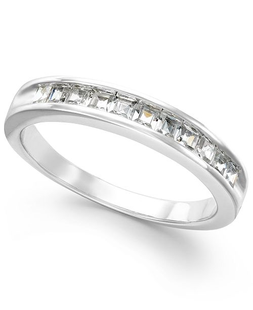 Macy's Diamond Channel Band in 14k White Gold (1/2 ct. t.w.)
