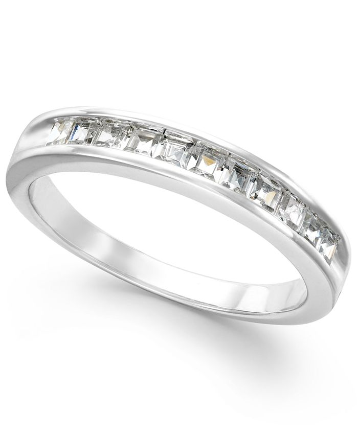Macy's - Diamond Channel Band in 14k White Gold (1/2 ct. t.w.)
