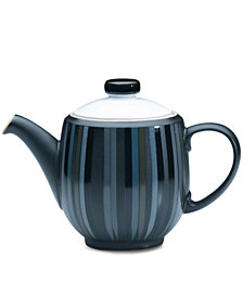 Denby Dinnerware, Jet Stripes Teapot