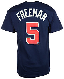 Majestic Men's Freddie Freeman Atlanta Braves Official Player T-Shirt