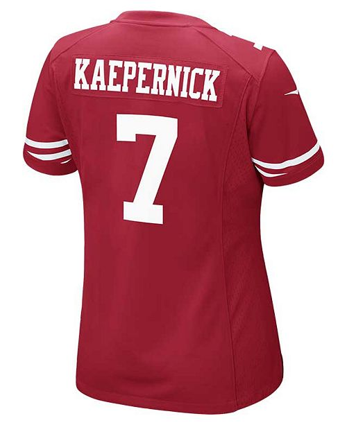 check out 2ef50 bee87 Nike Women's Colin Kaepernick San Francisco 49ers Game ...