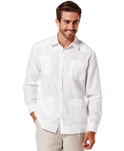 Cubavera 100 Linen Long Sleeve Guayabera Shirt
