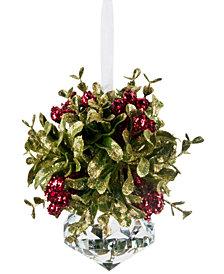 Ganz Red Kissing Krystals Mini Ornament