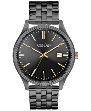 Caravelle by Bulova Men's Gray Ion-Plated Stainless Steel Bracelet Watch 41mm 45B120