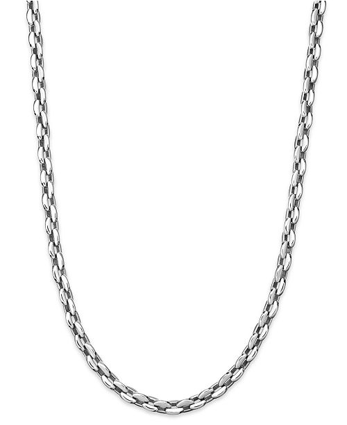 Sutton by Rhona Sutton Men's Stainless Steel Razor Chain Necklace