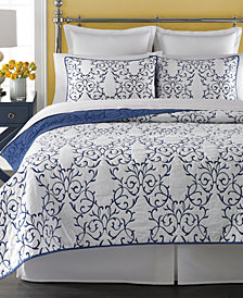 Martha Stewart Collection  100% Cotton Chateau King Quilt, Created for Macy's