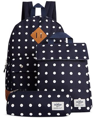 Osh Kosh Girls' or Little Girls' Backpack, Lunch Bag & Pencil Case ...