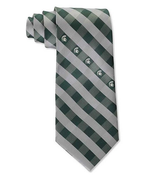 Eagles Wings Michigan State Spartans Checked Tie