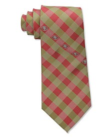 Eagles Wings San Francisco 49ers Checked Tie