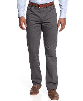 Alfani Slim Fit Pinstripe 5-Pocket Pants, Created for Macy's