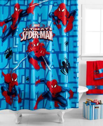 Marvel Spiderman Shower Curtain