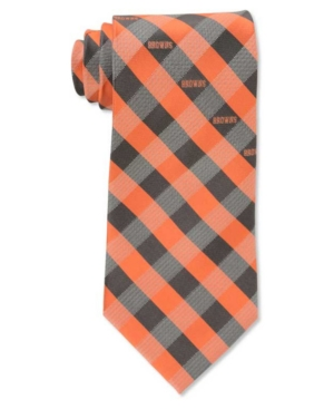 Cleveland Browns Checked Tie