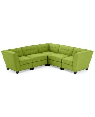 harper fabric 5 piece modular sectional sofa custom colors created for macyu0027s